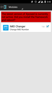 Xposed Installer with IMEI Change App